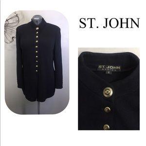 St John Basics Long Santana Knit Jacket Sweater 12